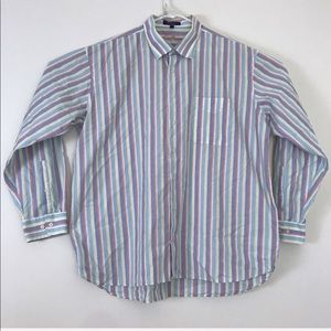 Alan Flusser 2XL Vertical Stripe Multi Color Shirt